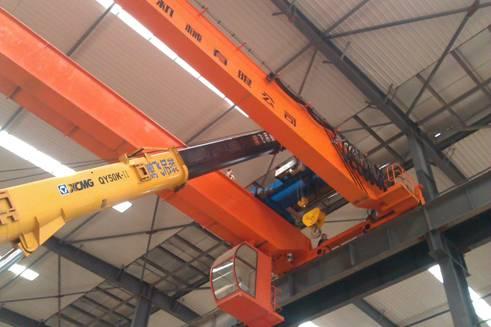 电动葫芦式双桥桥式起重机应用于钢结构厂房,操作简单!